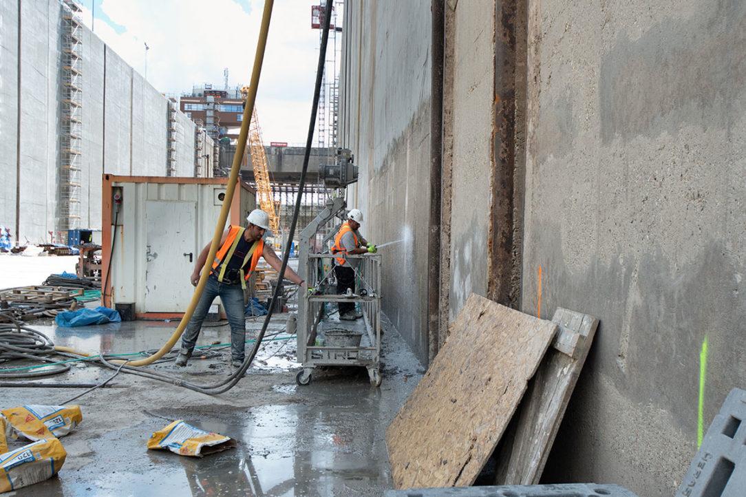 Sanácia betónových konštrukcií v plavebnej komore