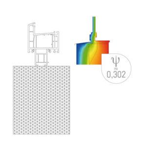 bežný PVC profil
