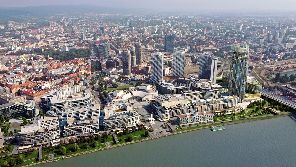Eurovea City cela zona