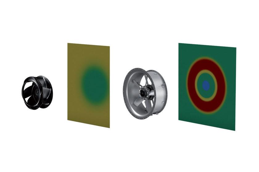 Obr. 2: Vo vzduchotechnických jednotkách možno použiť radiálne i axiálne ventilátory.