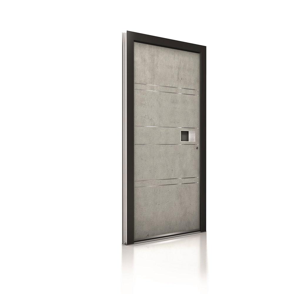 Internorm hliníkové vchodové dvere AT400 imitácia Beton 1000x1000 1
