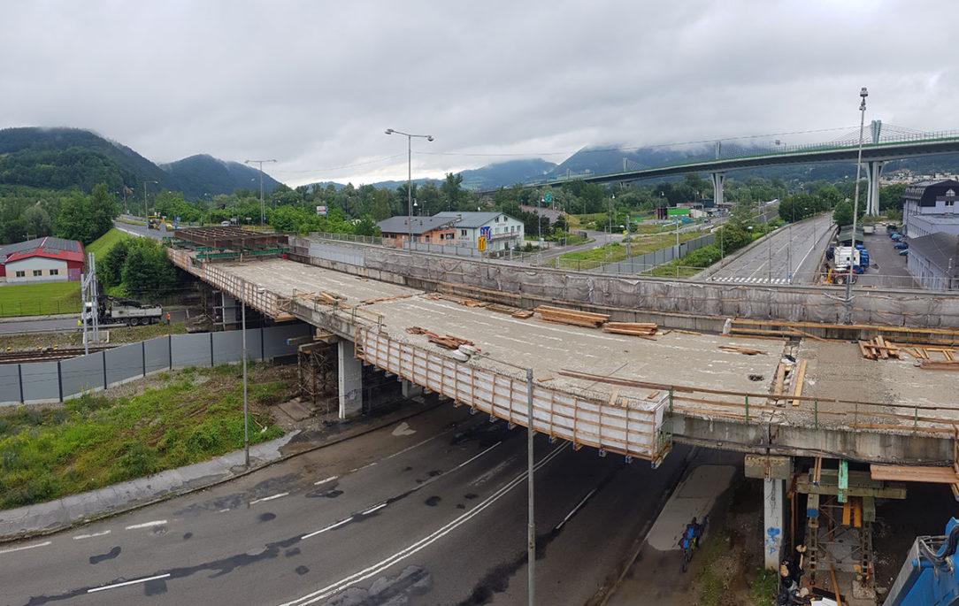 Práce na moste SO 202
