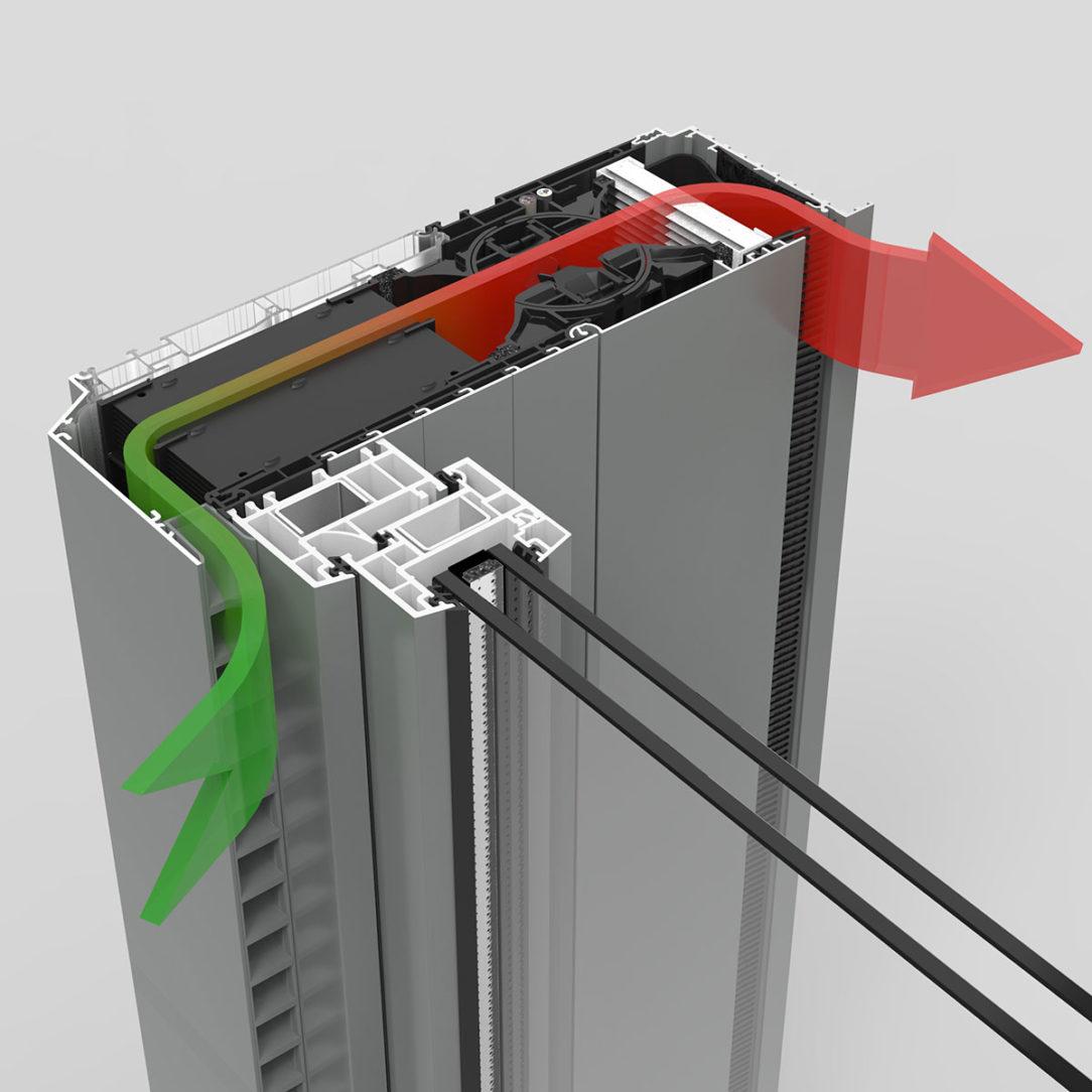 Decentrálna ventilačná jednotka s rekuperáciou Endura twist®