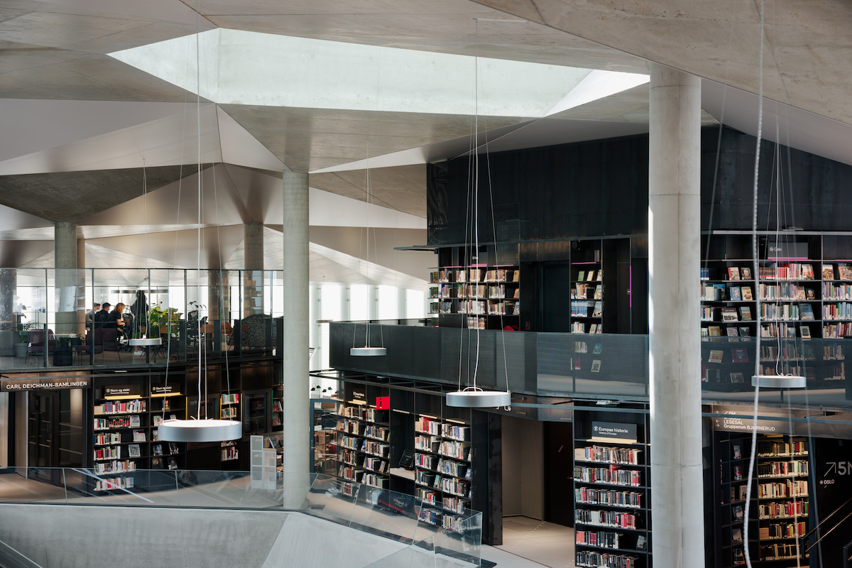 Deichmanova knižnica v štvrti Bjørvika