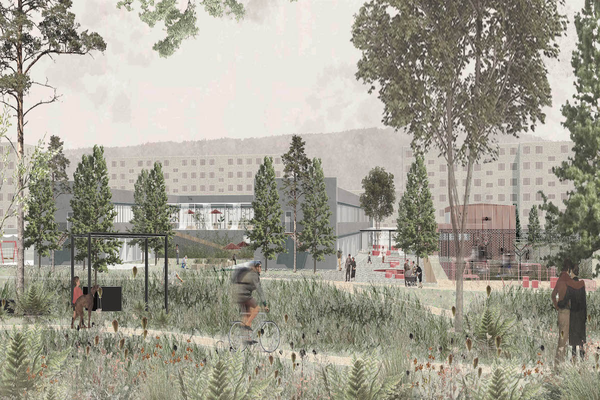vizualizacia, obcianska stavba, zvolen