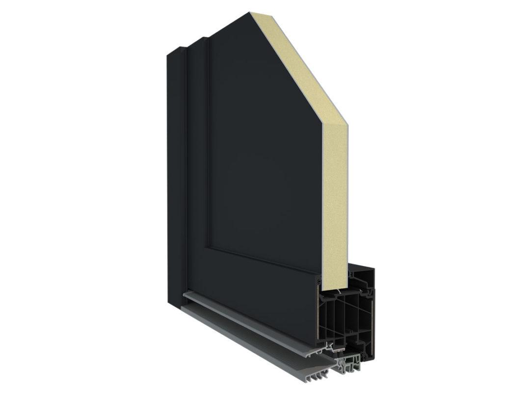 Nový systém vchodových dverí Elegant ThermoFibra Infinity 76 X je jediným systémom s integrovanou technológiou nekonečných sklených vlákien bez oceľovej výstuže.