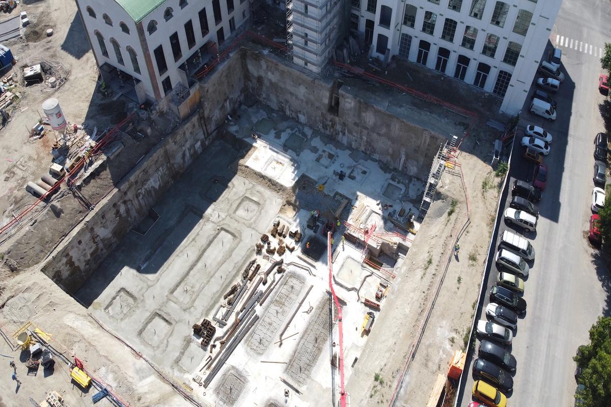 Zhotovená stavebná jama