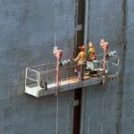 Opravy drážok pre osadenie rebríkov v komore.