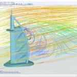 Zbrazení proudnic na 3D modelu