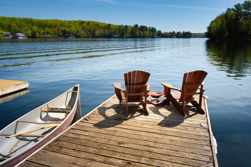 jazero, rekreacia, dovolenka