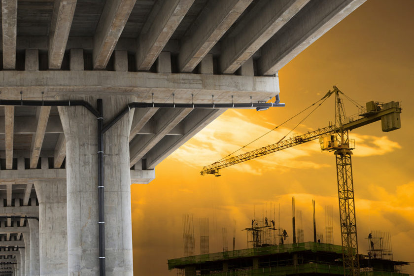 stavba, most, žeriav