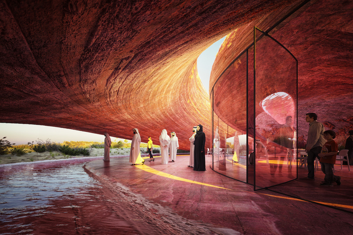 Koncept živej budovy podporujú rôzne prvky – napríklad aj vodný prvok.