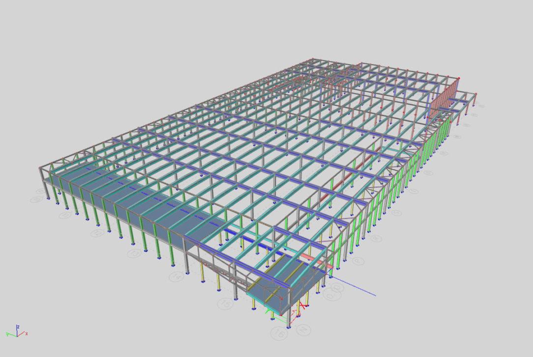 Obr.4 – 3D výpočtový model