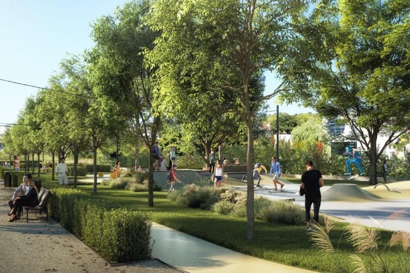 Nový park v Karlovej Vsi