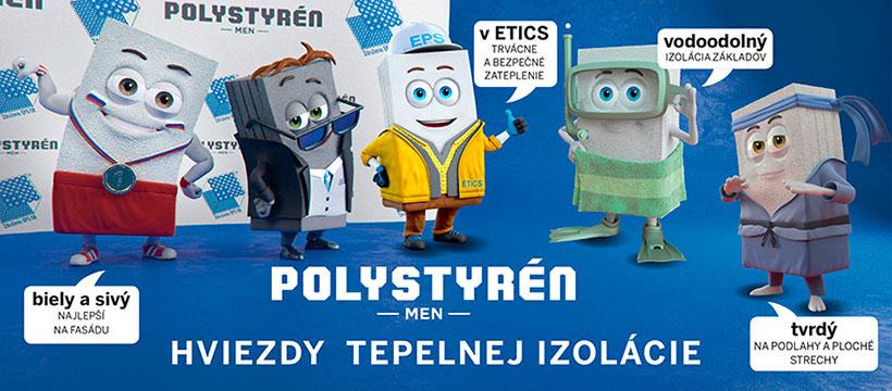 Edukatívna kampaň Polystyrén men – Hviezdy tepelnej izolácie upozorňuje na výhody EPS v prípade jeho použitia na zateplenie stavby.