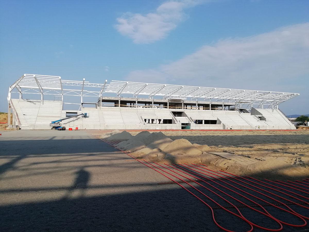 Obr. 8 Košická futbalová aréna – nosná prefabrikovaná konštrukcia