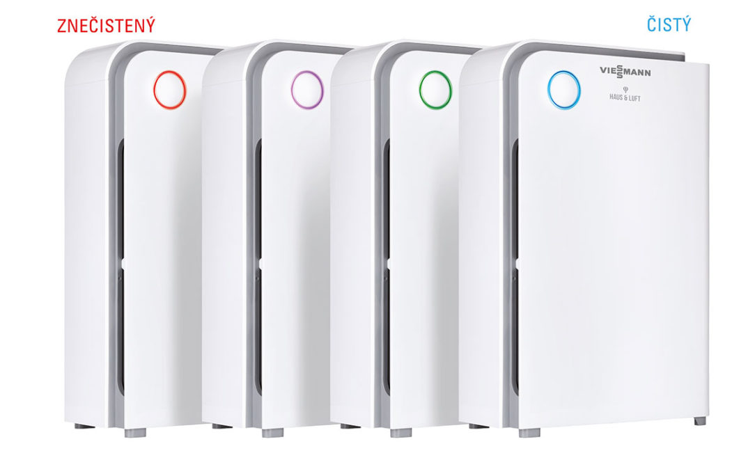 Farebný indikátor informuje o úrovni znečistenia vzduchu.