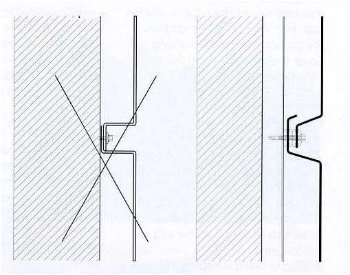 Obrázok ukazuje, ako vyzerá prekrytie vodorovného spoja kaziet s tesnením z EPDM a bez neho