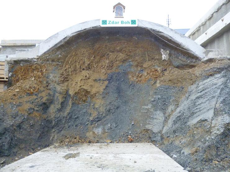 Obr. č. 6 Západný portál tunela Žilina