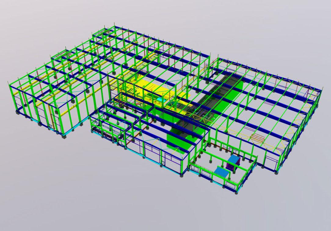 Obr.1 – 3D model nosnej konštrukcie