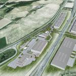 Obr.1 – Vizualizácia – Logistický park Opatovce