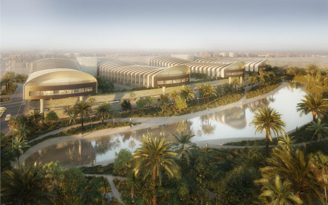 Parku dominuje vodná plocha obkolesená chodníkmi a odpočinkovými plochami.