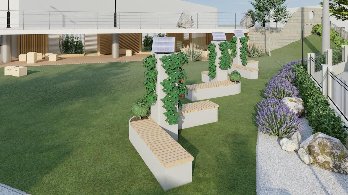 Víťazný návrh študentky interiérového dizajnu Ľubomíry Mudrovej