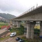 Obr. 10 Pohľad na mostný objekt v čase ukončenia výsuvu