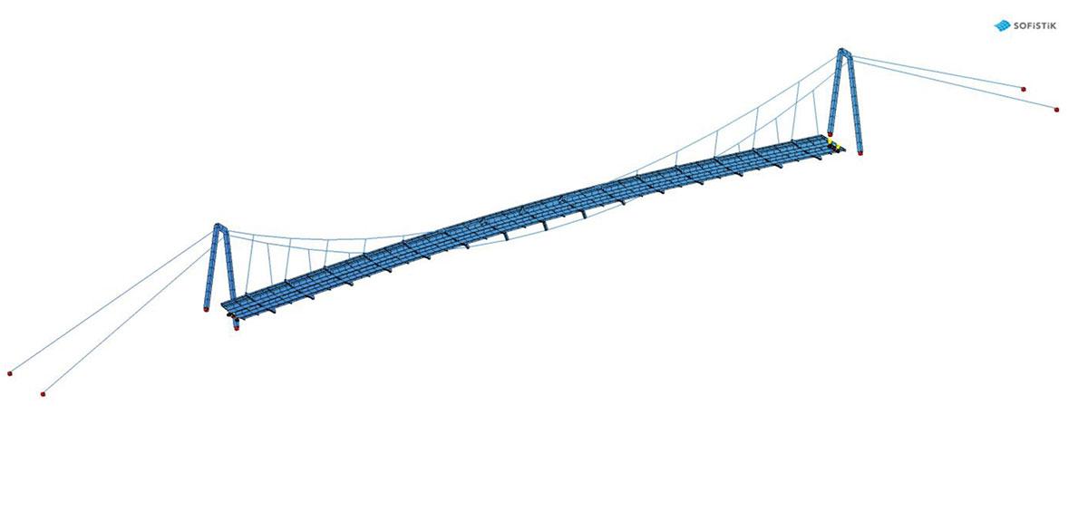 Obr. 9 FE Model oceľovej časti