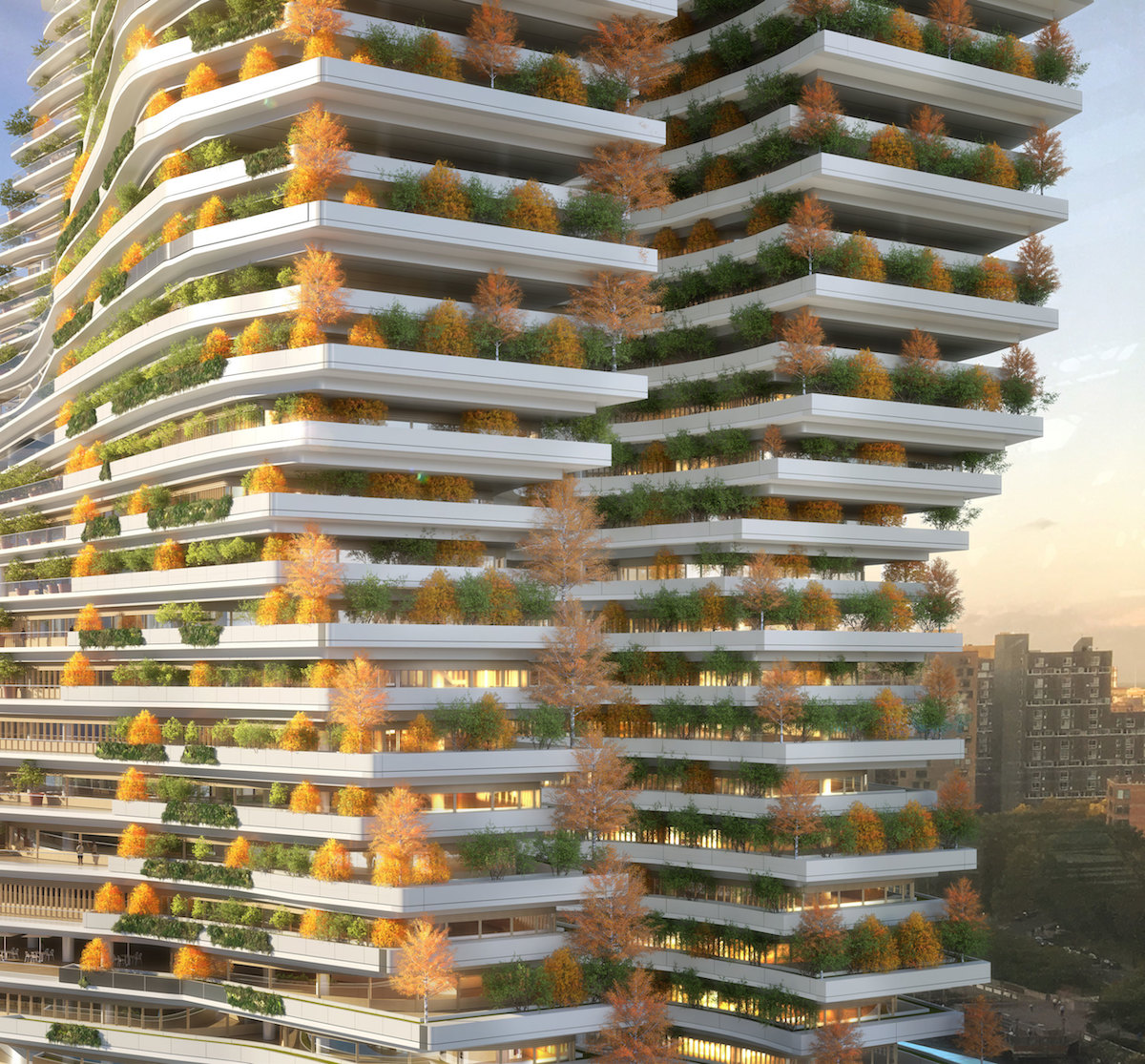 Projekt zeleného mrakodrapu taktiež pracuje s konceptom energetickej úspornosti, čo znamená zmenu životného štýlu a sociálnu premenu.
