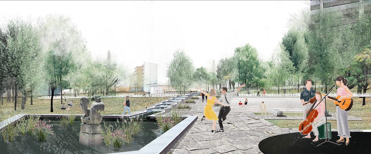 3. miesto – nové funkcie parku: scéna na kultúrne podujatia.
