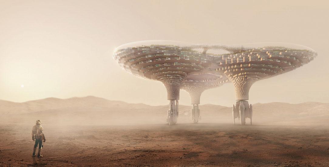 Crystal Space City the Mars CAA architects