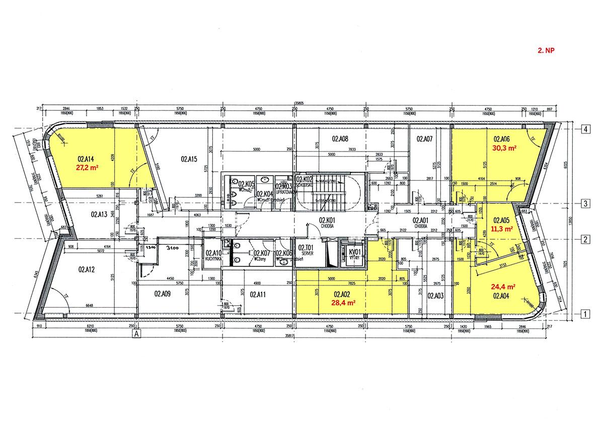 Voľné priestory (popisok k obrázku) Budova je prístupná 24 hodín denne 7 dní v týždni, vybavená recepciou, ktorá funguje každý pracovný deň. Bezproblémové parkovanie v blízkosti, prípadne možnosť prenájmu miesta na súkromnom parkovisku alebo v podzemnej garáži. V pešej dostupnosti sa nachádza OC Galéria Lamač a hypermarket Kaufland. Kolaudácia budovy prebehla v roku 2008.