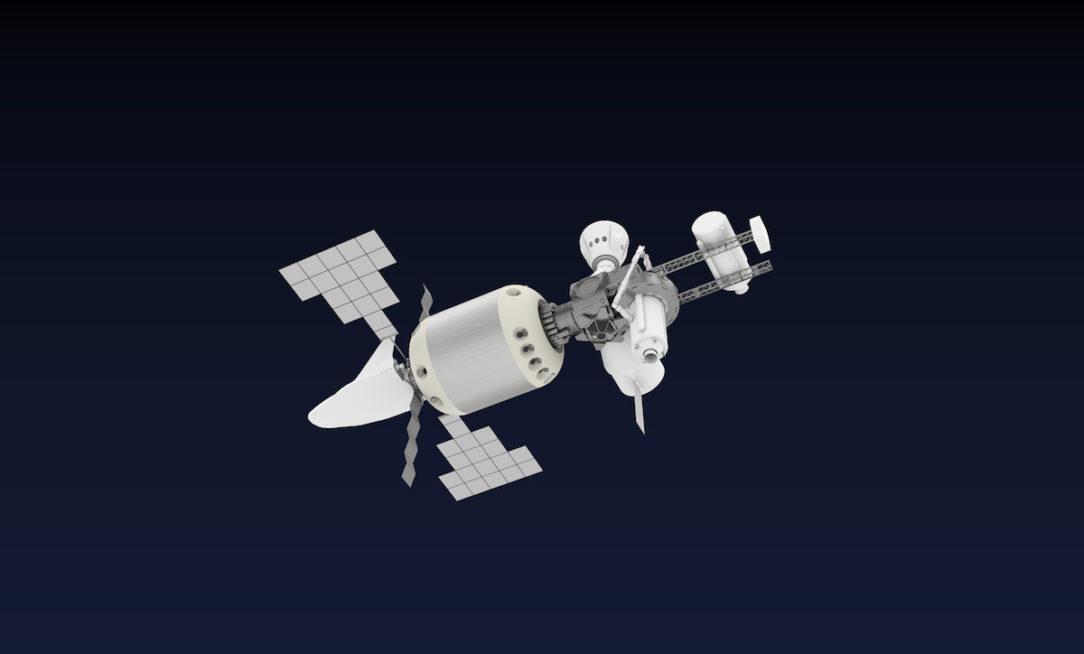 Vizualizácia vesmírnej stanice R3-Debris.