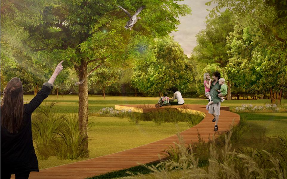 V parku vzniknú tri zóny – športová, spoločenská a oddychová.