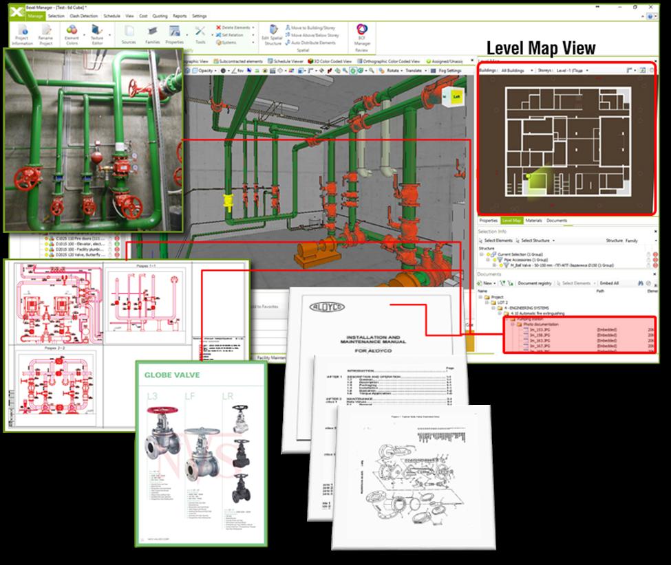 Obr. 1 Pracovné prostredie špecializovaného softvéru