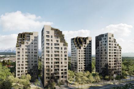 Obytný súbor Kvartet bude pozostávať zo štyroch veží so 16 podlažiami.
