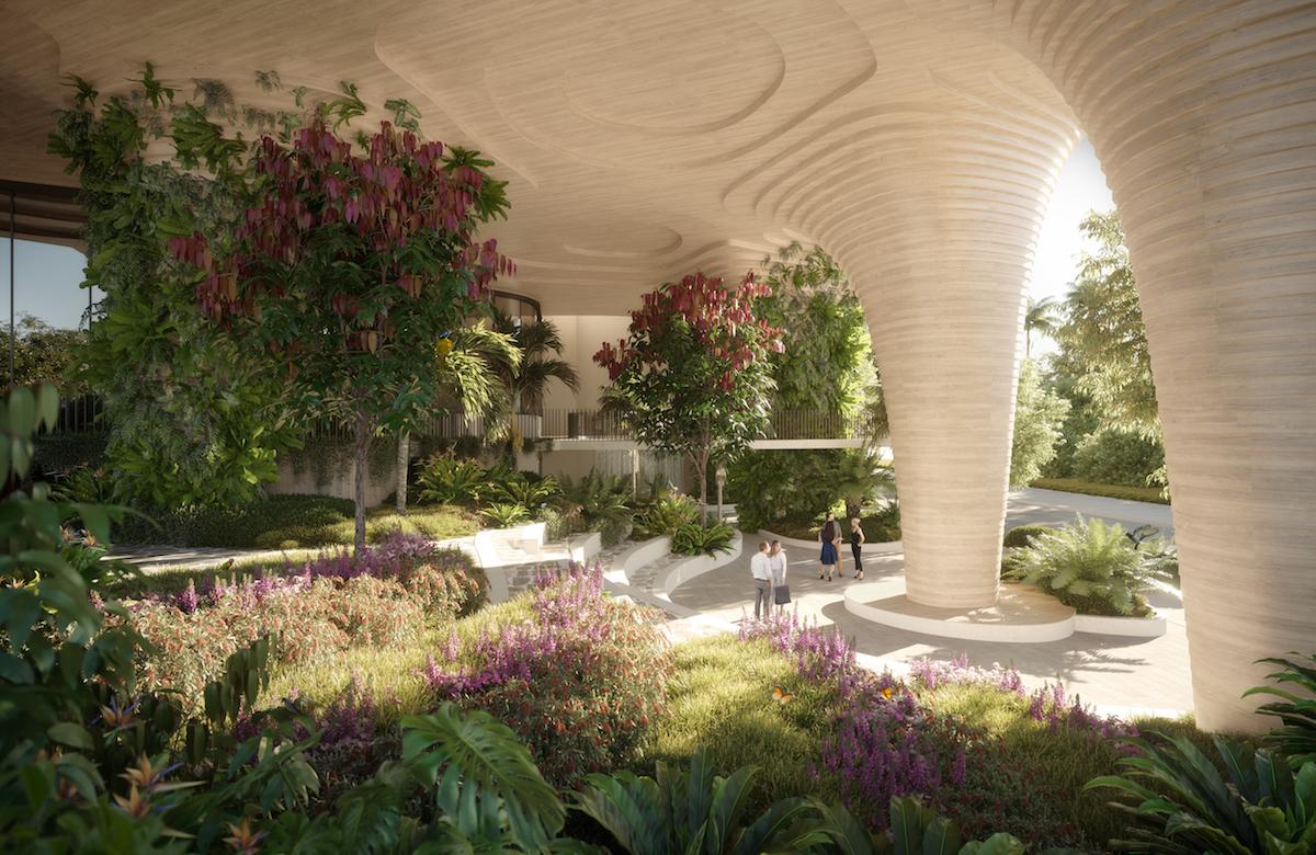 Na fasáde aj v parku budú vysadené len miestne druhy rastlín.