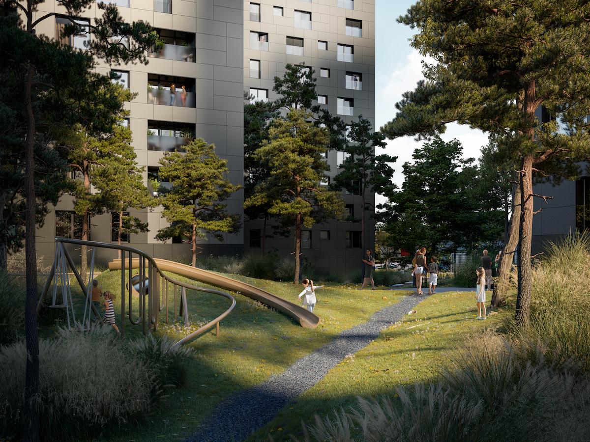 Okolo súboru bude upravené priestranstvo s rozlohou 4 000 m².