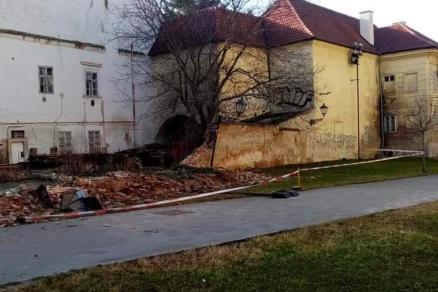 Spadnutý múr v Trnave