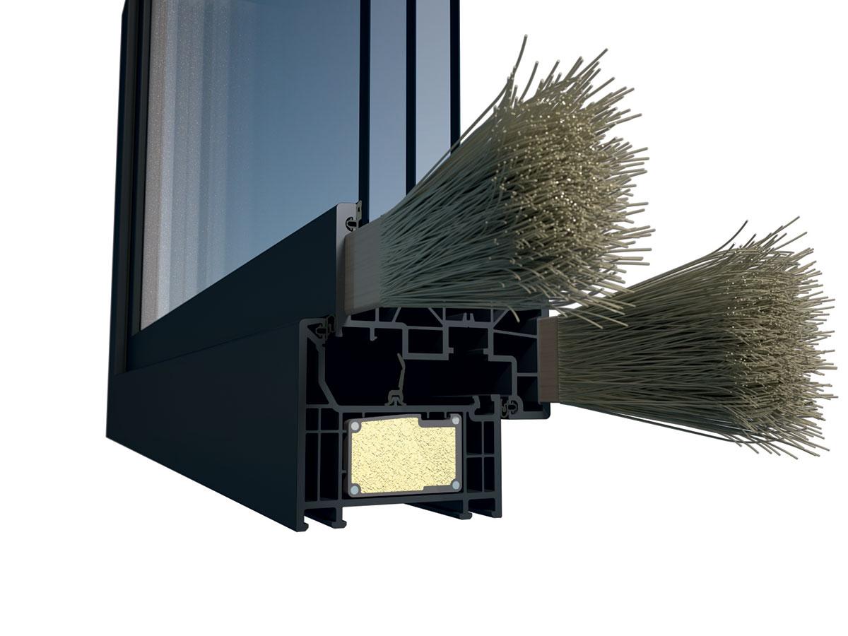 Vďaka kombinácii profilového systému Elegant s technológiou nekonečných sklených vlákien ThermoFibra nie je nutné použiť štandardnú oceľovú výstuž.