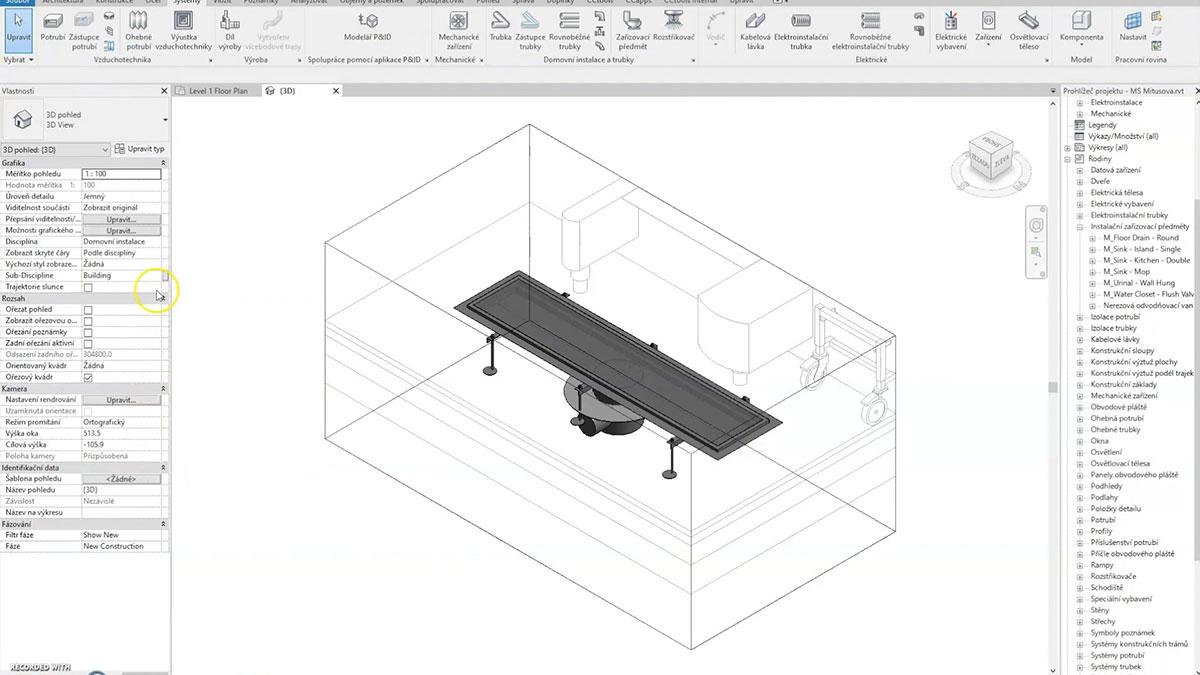 MEA projektování v BIM nerez 3