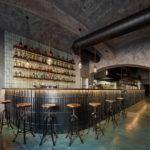 Veľkorysý bar prechádza takmer všetkými priestormi.