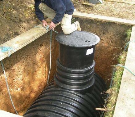 podzemná nádrž na dažďovú vodu