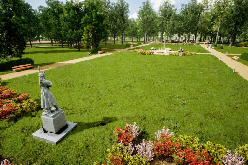 VIzualizácia nového banskobystrického parku