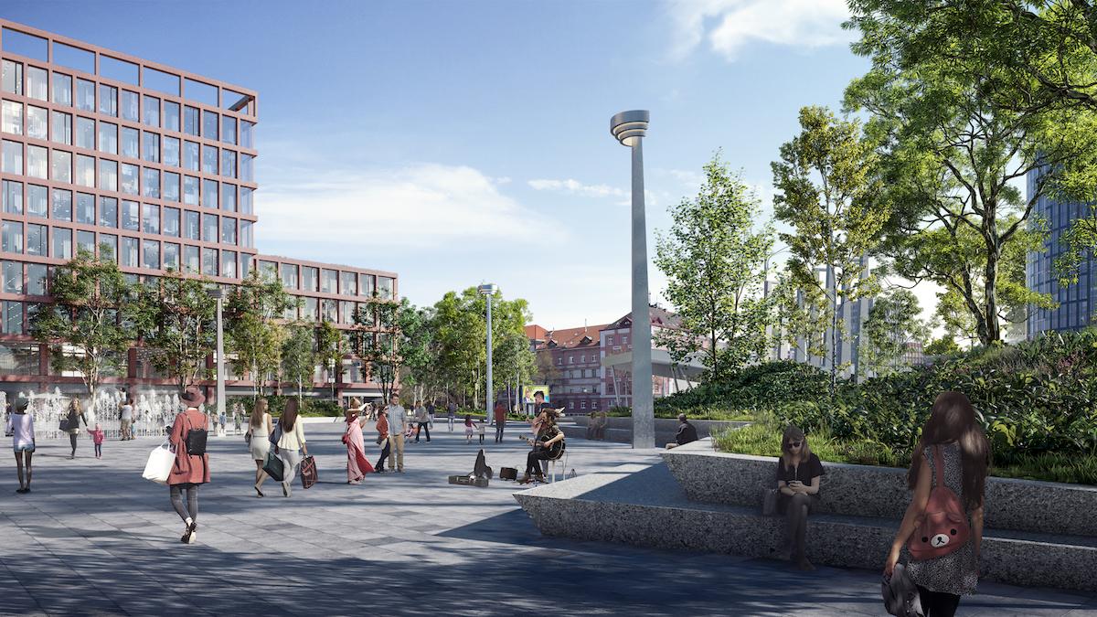 Hlavné námestie pred kultúrno-kongresovým centrom sa zväčší takmer o 30 % oproti existujúcemu.