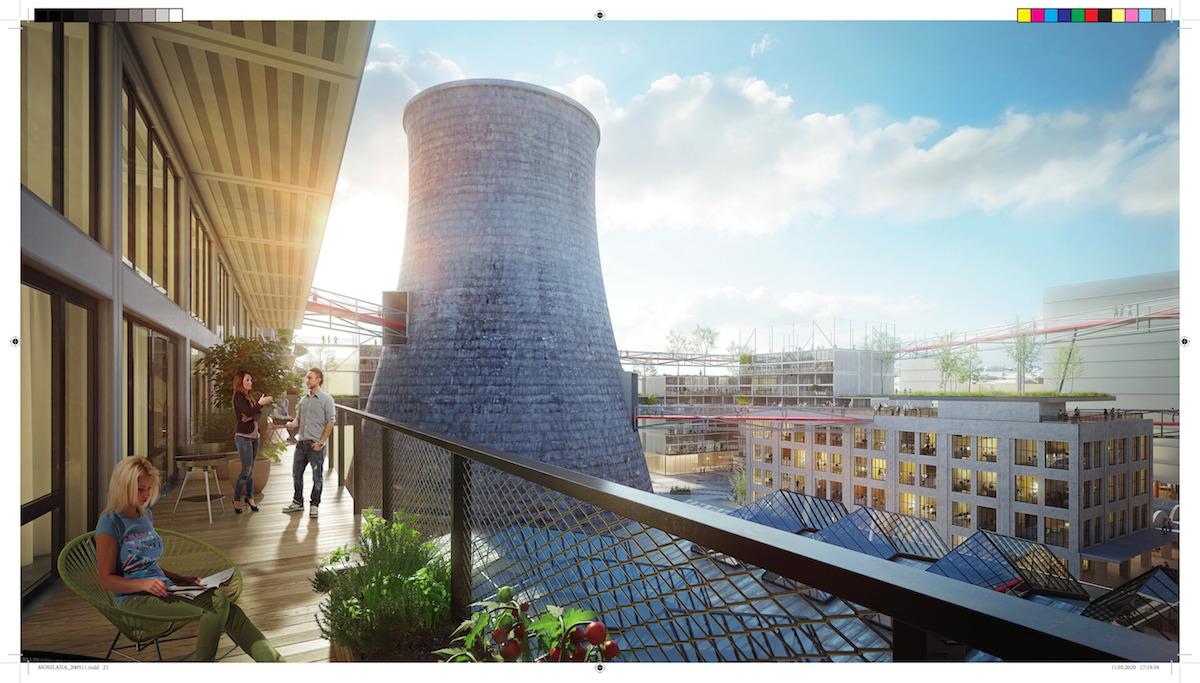 Bývalá chladiaca veža ostane ikonou miesta.