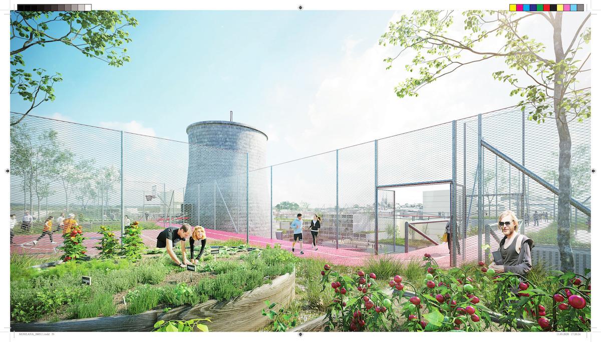 Záhrady, športoviská a výhľady do okolia.