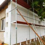 Zateplenie fasády starého domu polystyrénom