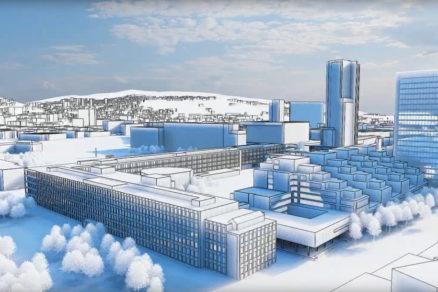 Vo vnútrobloku sa nachádza budova ťažkých laboratórií, ktorú možno revitalizovať.